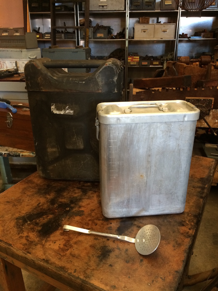 Vintage Army Military 1962 Insulated Food Container Storage Metal |Melbourne|Halsey Road Recyclers