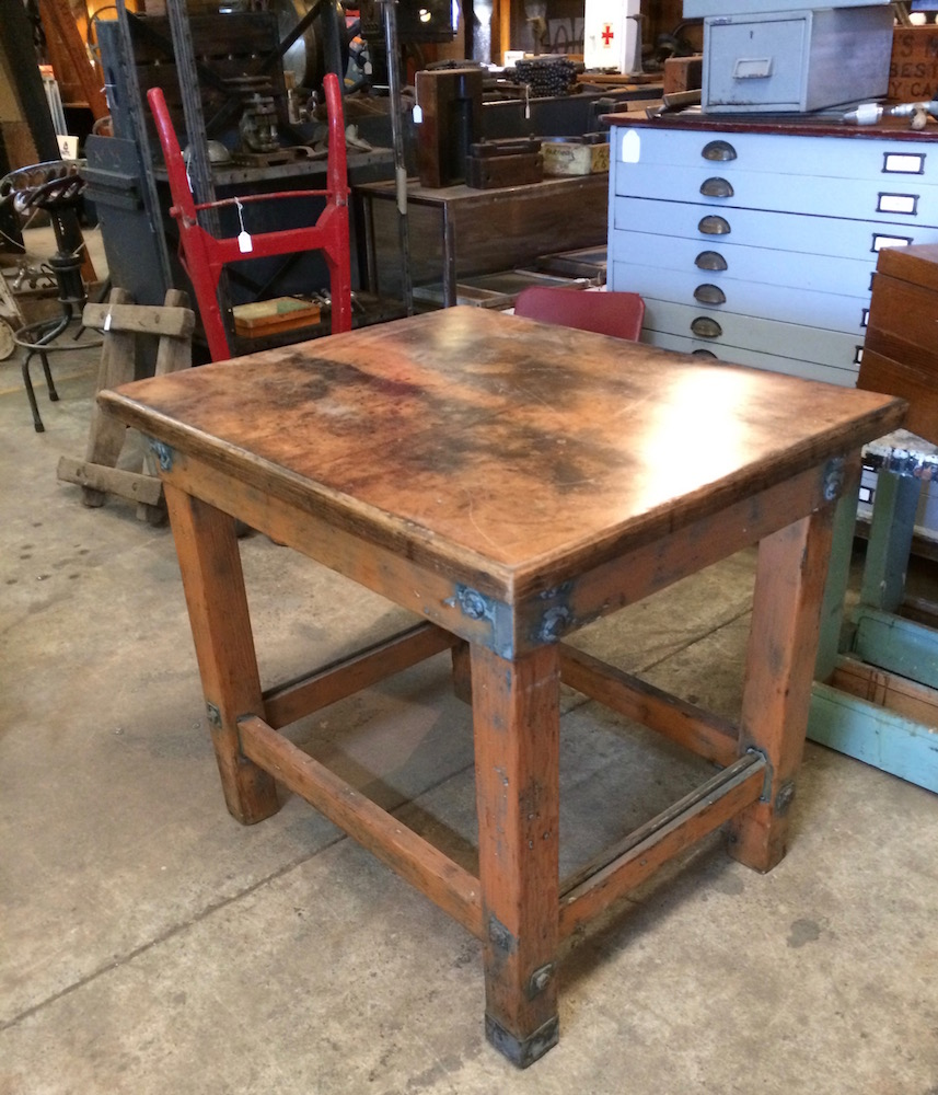 Industrial Vintage Timber Rustic Work Bench Cafe Kitchen Table Melbourne Halsey Road Recyclers