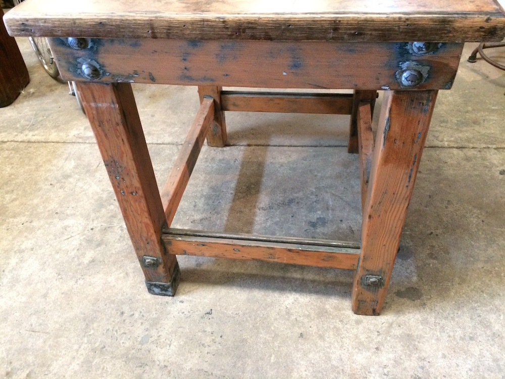 Industrial Vintage Timber Rustic Work Bench Cafe Kitchen Table|Melbourne|Halsey Road Recyclers