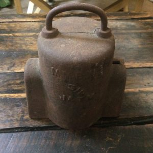 Vintage Antique Cast Iron MMBW 3/4 Water Meter Cover |Melbourne| Halsey Road Recyclers