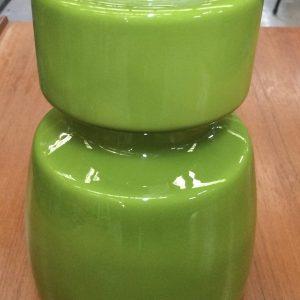 Vintage Retro Pendant Light Shade Scandinavian Olive Green Glass | Melbourne | Halsey Road Recyclers