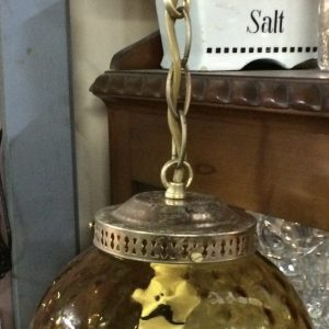 Vintage Retro Ceiling Pendant Light Shade Amber Glass | Melbourne| Halsey Road Recyclers